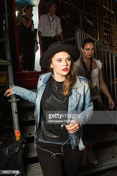 Songwriter Francesca Michielin at CocaCola Summer Festival Rome Italy 26th June 2015