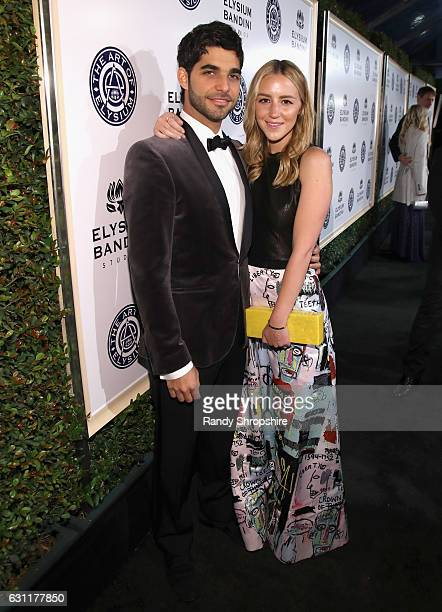 Songwriter Freddy Wexler and Olivia Zaro attend The Art of Elysium presents Stevie Wonder's HEAVEN Celebrating the 10th Anniversary at Red Studios on...
