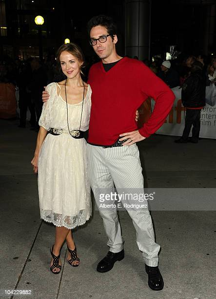 Songwriter Gemma Hayes and musician Eef Barzelay attend Janie Jones Premiere during the 35th Toronto International Film Festivalat Roy Thomson Hall...