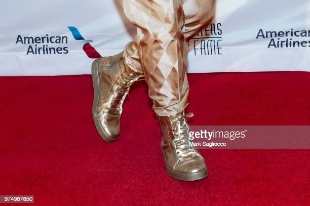 Songwriter Hall of Fame Inductee Allee Willis boot detail attends the 2018 Songwriter's Hall Of Fame Induction and Awards Gala at New York Marriott...