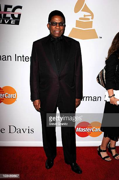 Songwriter Herbie Hancock arrives at the 52nd Annual GRAMMY Awards Salute To Icons Honoring Doug Morris held at The Beverly Hilton Hotel on January...