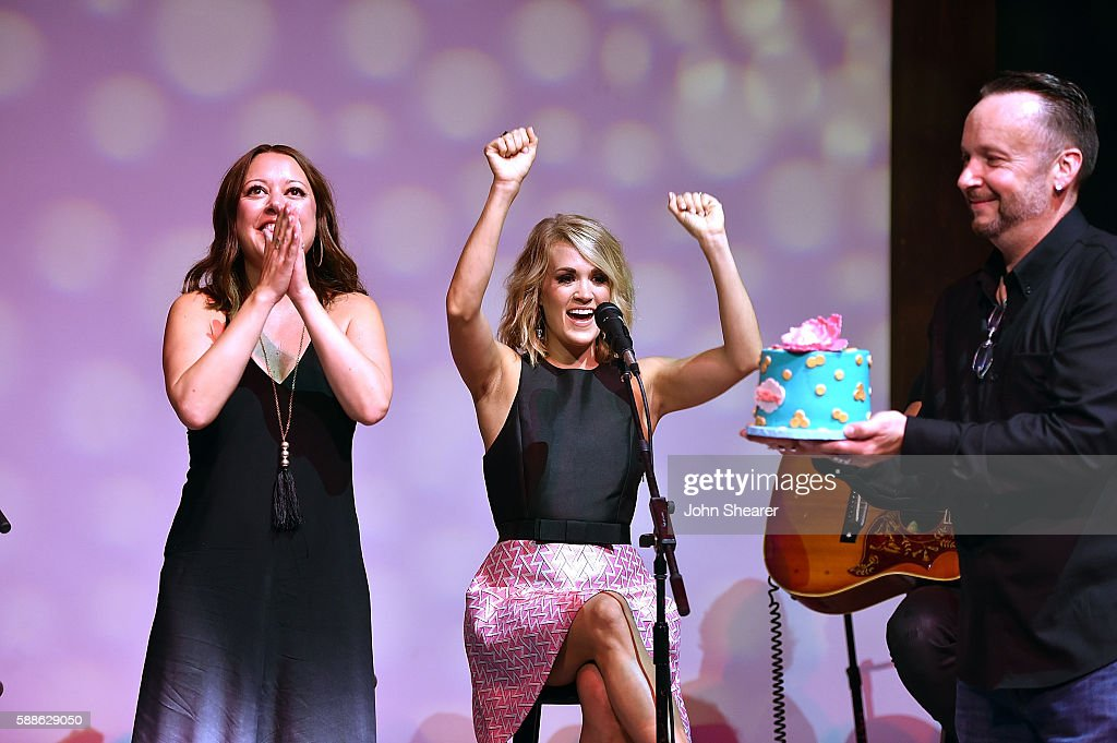 """Carrie Underwood Celebrates Number One Songs """"Heartbeat"""" and """"Church Bells"""" : News Photo"""