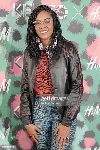 Songwriter Ingrid Burley attends KENZO x HM Launch Event Directed By JeanPaul Goude' at Pier 36 on October 19 2016 in New York City