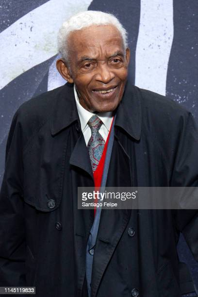 Songwriter Irving Burgie attends Beetlejuice Broadway opening night at Winter Garden Theatre on April 25 2019 in New York City