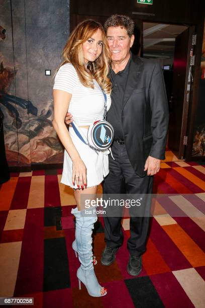 Songwriter Jack White and his wife Rafaella White during the Kempinski Fashion Dinner on May 23 2017 in Munich Germany