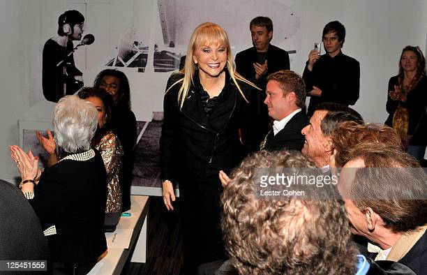 Songwriter Jackie DeShannon attends the New Songwriters Hall of Fame Gallery RibbonCutting Ceremony at the Clive Davis Theater at The GRAMMY Museum...