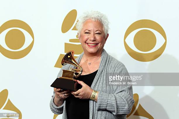 Songwriter Janis Ian winner of the Best Spoken Word Album for Society's Child My Autobiography poses in the press room at the 55th Annual GRAMMY...