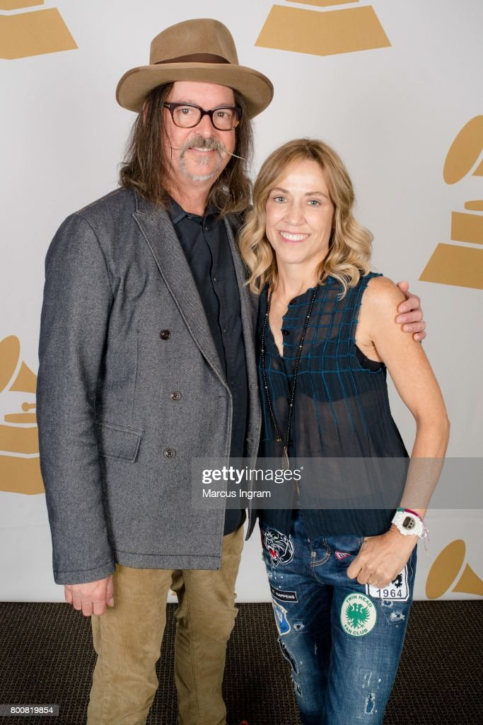 Songwriter Jeff Trott and Singer-Songwriter Sheryl Crow featured at GRAMMY Up Close & Personal at W Hotel, Buckhead on June 25, 2017 in Atlanta, Georgia.