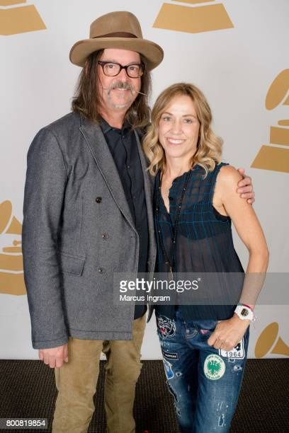 Songwriter Jeff Trott and SingerSongwriter Sheryl Crow featured at GRAMMY Up Close Personal at W Hotel Buckhead on June 25 2017 in Atlanta Georgia