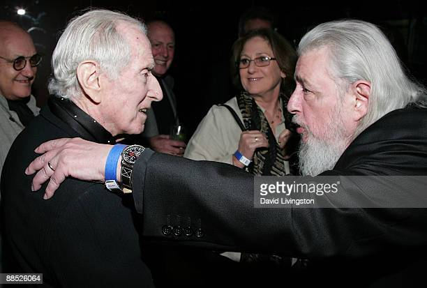 Songwriter Jerry Leiber and lyricist Gerry Goffin attend a launch party for the book Hound Dog at The Conga Room at LA Live on June 16 2009 in Los...