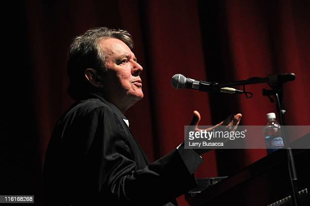 Songwriter Jimmy Webb performs onstage at the Songwriters Hall of Fame/NYU Master Session Scholarship Awards Showcase at Frederick Loewe Theatre on...