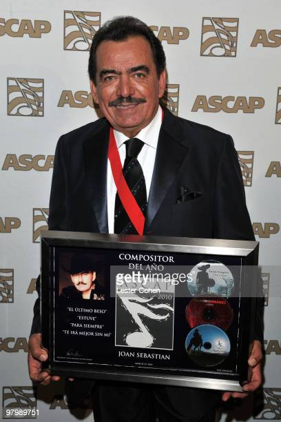 Songwriter Joan Sebastian arrives at 18th Annual ASCAP Latin Music Awards at The Beverly Hilton hotel on March 23 2010 in Beverly Hills California