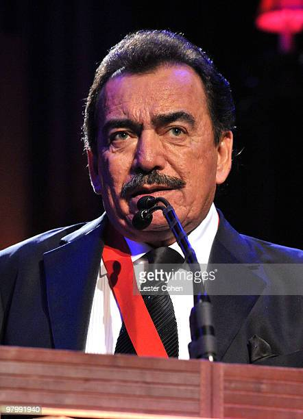 Songwriter Joan Sebastian speaks onstage at 18th Annual ASCAP Latin Music Awards at The Beverly Hilton hotel on March 23 2010 in Beverly Hills...