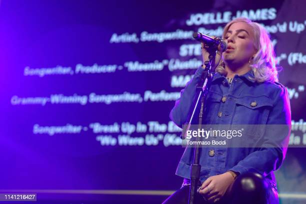 Songwriter Joelle James performs onstage during the 14th ANNUAL WRITERS JAM at The 2019 ASCAP I Create Music EXPO Day 3 at Lowes Hollywood Hotel on...