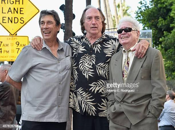 Songwriter John Martin Sommers musician James Horn and musician Denny Brooks attend the ceremony posthumosly honoring John Denver with the 2531st...