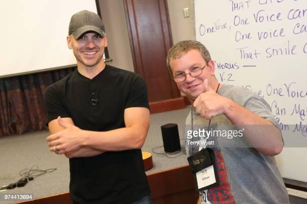 Songwriter Jon Nite joins ACM Lifting Lives campers during ACM Lifting Lives Music Camp Songwriting Workshop at Vanderbilt University on June 14 2018...