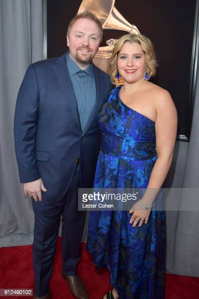 Songwriter Josh Osborne and Toni Osborne attend the 60th Annual GRAMMY Awards at Madison Square Garden on January 28 2018 in New York City