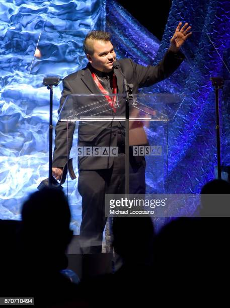Songwriter Justin Ebach accepts the Songwriter of the Year award onstage during 2017 SESAC Nashville Music Awards on November 5 2017 in Nashville...