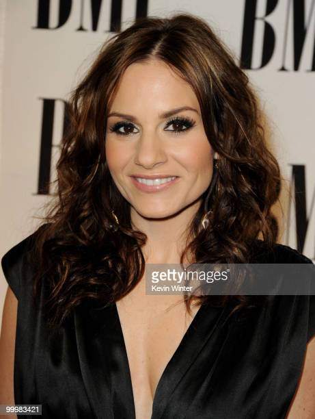 Songwriter Kara DioGuardi arrives at the 58th Annual BMI Pop Awards at the Beverly Wilshire Hotel on May 18 2010 in Beverly Hills California