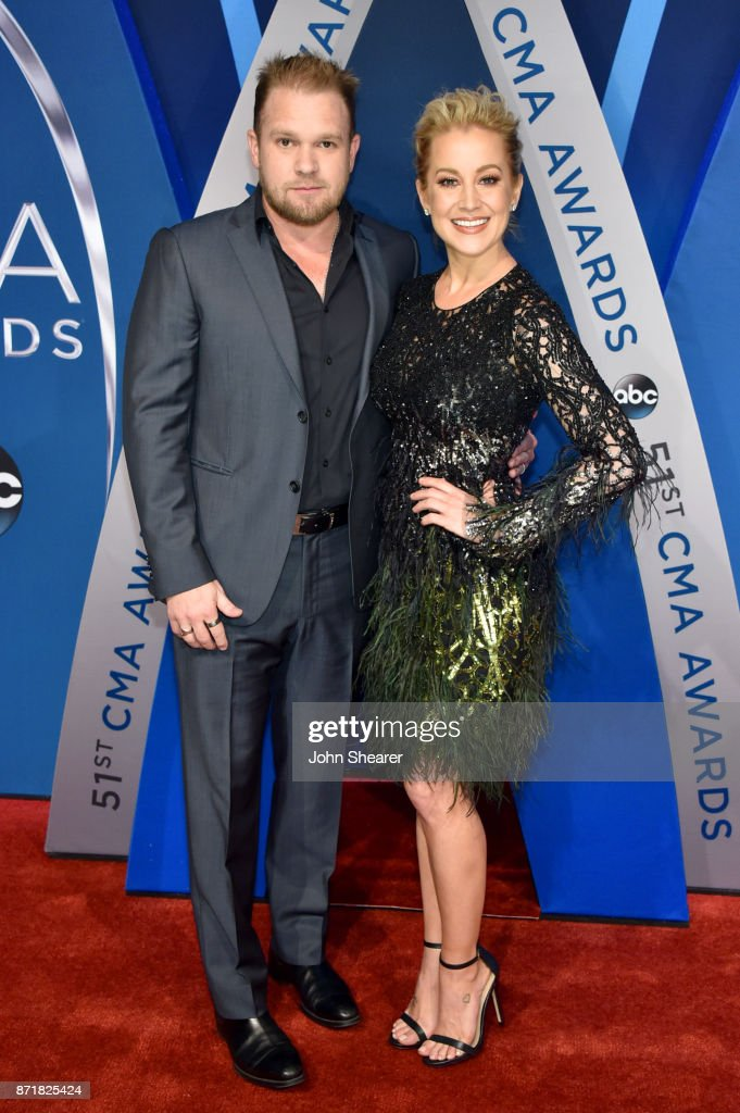 Songwriter Kyle Jacobs and musical artist Kellie Pickler attends the 51st annual CMA Awards at the Bridgestone Arena on November 8, 2017 in Nashville, Tennessee.
