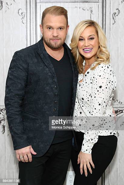 Songwriter Kyle Jacobs and singer and TV personality Kellie Pickler attend AOL Build Presents Kellie Pickler and Kyle Jacobs discuss I Love Kellie...