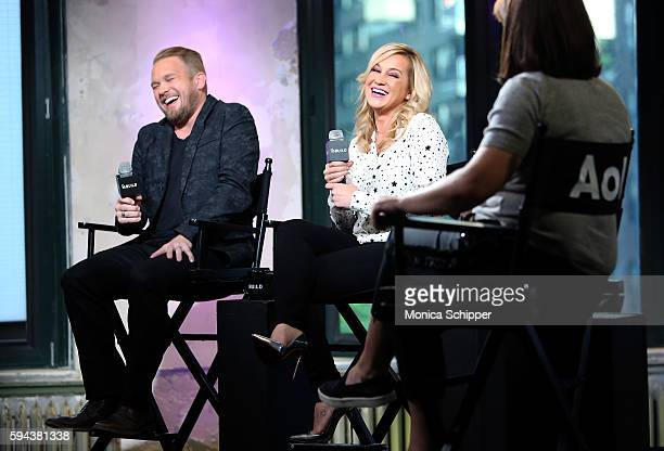 Songwriter Kyle Jacobs and singer and TV personality Kellie Pickler speak with Donna Freydkin during AOL Build Presents Kellie Pickler and Kyle...