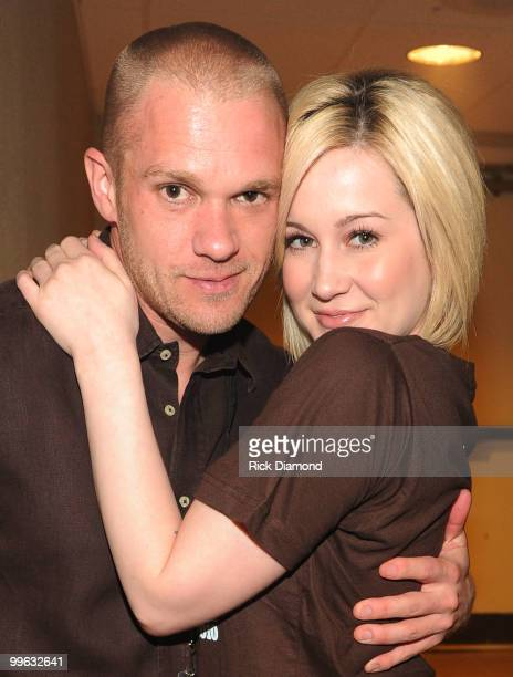 "Songwriter Kyle Jacobs with Girlfriend Singer/Songwriter Kellie Pickler backstage during the ""Music City Keep on Playin'"" benefit concert at the..."