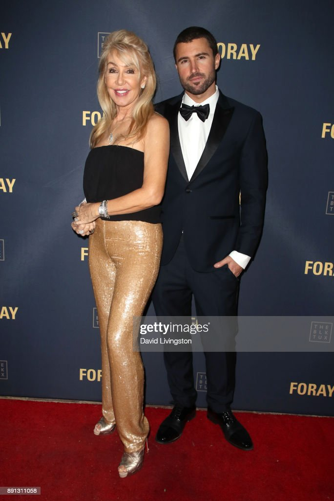 Songwriter Linda Thompson (L) and television personality Brody Jenner attend FORAY Collective and The Black Tux Host Holiday Gala on December 12, 2017 in Los Angeles, California.