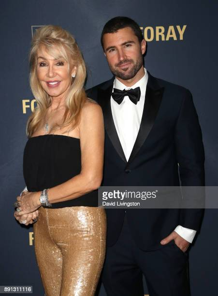 Songwriter Linda Thompson and television personality Brody Jenner attend FORAY Collective and The Black Tux Host Holiday Gala on December 12 2017 in...