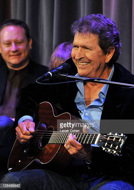 Songwriter Mac Davis performs during the New Songwriters Hall of Fame Gallery RibbonCutting Ceremony at the Clive Davis Theater at The GRAMMY Museum...