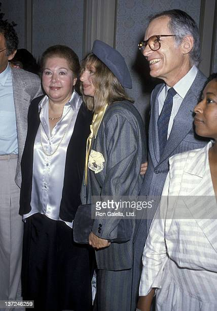 Songwriter Marilyn Bergman actress/singer Barbra Streisand and songwriter Alan Bergman attend the 10th Annual Women in Film Crystal Awards on May 30...