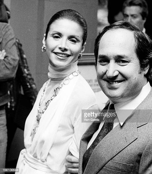 Songwriter Neil Sadaka and wife Leba Strassberg attending the premiere of 'The Greek Tycoon' on May 11 1978 at the Plaza Theater in New York City New...