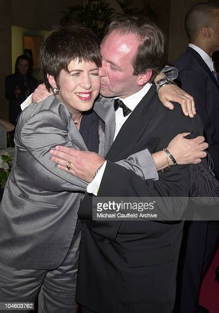 Songwriter of the Year Diane Warren gets a kiss from Composer of the Year Hans Zimmer while arriving