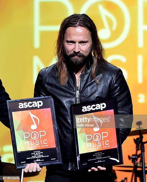 Songwriter of the Year Max Martin appears onstage at the 32nd Annual ASCAP Pop Music Awards at the Loews Hollywood Hotel on April 29 2015 in Los...