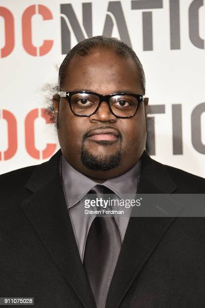 Songwriter Poo Bear attends the 2018 Roc Nation PreGrammy Brunch at One World Trade Center on January 27 2018 in New York City