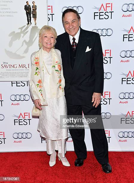 Songwriter Richard M Sherman and Elizabeth Sherman arrive at the AFI FEST 2013 Presented By Audi Disney's 'Saving Mr Banks' Opening Night Gala...