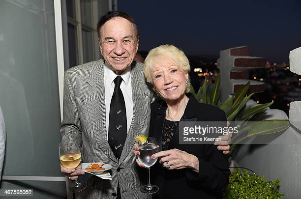 Songwriter Richard M Sherman and Elizabeth Sherman attend The Tony Awards celebration of Broadway in Hollywood at Sunset Towers on March 25 2015 in...