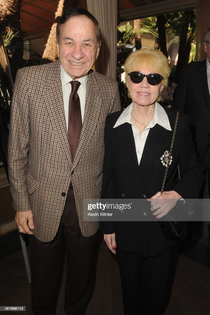 Songwriter Richard M. Sherman and wife Elizabeth Sherman attend the 14th annual AFI Awards Luncheon at the Four Seasons Hotel Beverly Hills on January 10, 2014 in Beverly Hills, California.