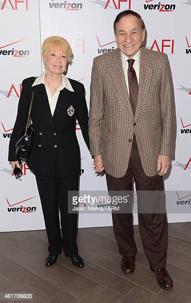 Songwriter Richard M Sherman and wife Elizabeth Sherman attend the 14th annual AFI Awards Luncheon at the Four Seasons Hotel Beverly Hills on January...