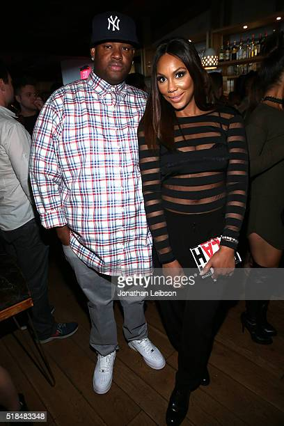 Songwriter Vincent Herbert and singer Tamar Braxton attend WE tv's premiere of Kendra On Top and Driven To Love at Estrella Sunset on March 31 2016...