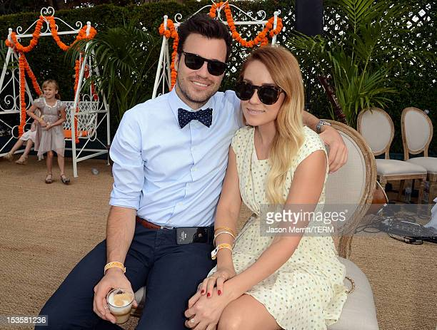 Songwriter William Tell and television personality Lauren Conrad attend the Third Annual Veuve Clicquot Polo Classic at Will Rogers State Historic...