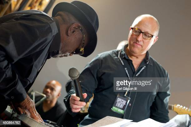 Songwriter/Composer Leon Ware performs during Black Music Month at at Sam Ash Music Store on June 18, 2014 in Hollywood, California.