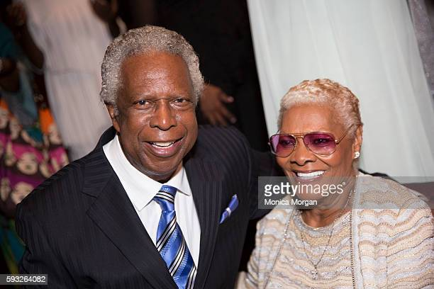 Songwriter/Inductee Mickey Stevens and Singer/Inductee Dionne Warwick attend the 4th Annual Rhythm Blues Music Hall Of Fame Induction Ceremony in...