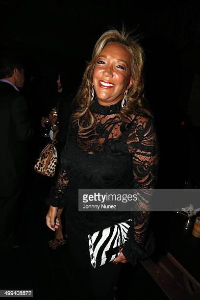 Songwriter/philanthropist Denise Rich attends the Gabrielle's Angel Foundation For Cancer Research benefit party at TAO Downtown on November 30 2015...