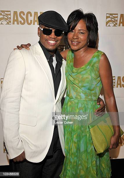 Songwriter/recording artist NeYo and ASCAP SVP Jeanie Weems inside the press room at the 2008 ASCAP Rhythm and Soul Awards at the Beverly Hilton...
