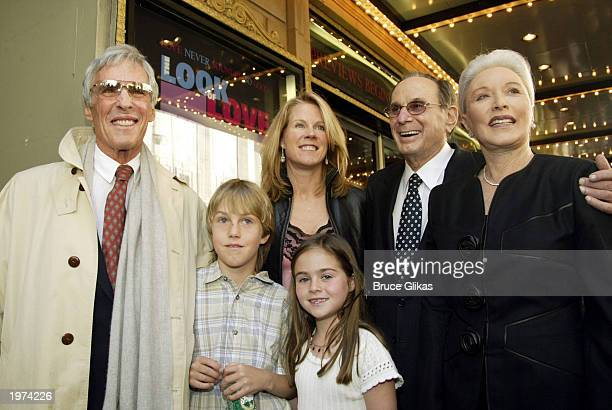 Songwriters Burt Bacharach and Hal David arrive with their wives and Bacharach's children at the Opening Night of The Look of Love The Songs of Burt...