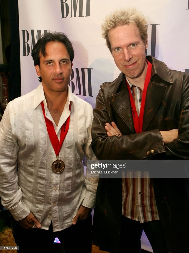 Songwriters Carl Sturken and Evan Rogers arrive at the 54th Annual BMI Pop Awards at the Regent Beverly Wilshire Hotel on May 16, 2006 in Beverly Hills, California.
