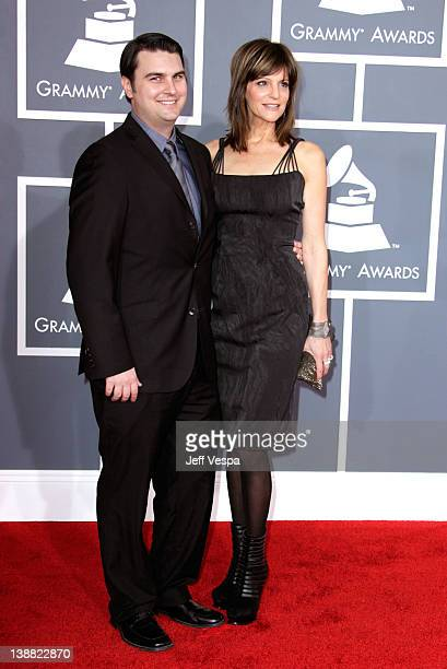Songwriters Drew Pearson and Anne Preven arrive at The 54th Annual GRAMMY Awards at Staples Center on February 12 2012 in Los Angeles California