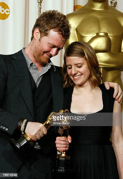 TELECAST*** Songwriters Glen Hansard and Marketa Irglova winners of the award Achievement In Music Written For Motion Pictures for Falling Slowly...