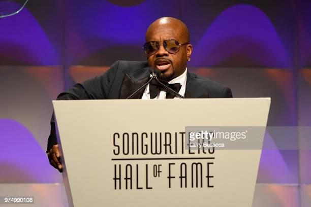 Songwriters Hall of Fame Inductee Jermaine Dupri speaks onstage during the Songwriters Hall of Fame 49th Annual Induction and Awards Dinner at New...